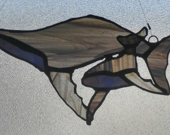 Stained Glass Whale Suncatchers-Whales-Whale family-Stained Glass Suncatchers