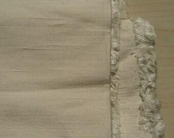 Cream silk with elastane