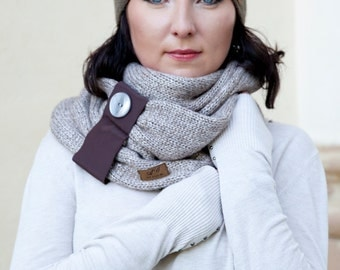 SALE  50 % OFF /Snood / Wool snood/ Knitted snood/ scarf / gift for her/ stylish snood/ knitted scarf / scarves