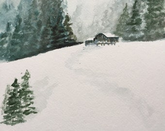 Winter Wonderland Watercolor