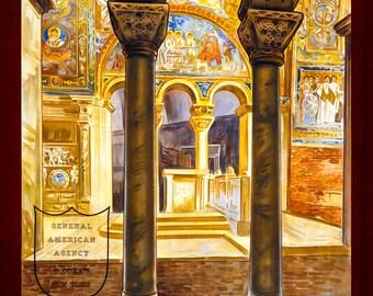 Ravenna Italy Old Vintage Travel Ad HD Canvas Print Or Art