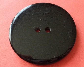 3 large black buttons 39mm (2347)