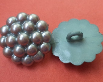 7 buttons silver 21mm (6373) button