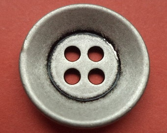 18 mm (5545) metal button buttons 10 metal buttons silver