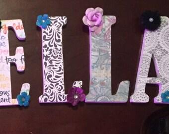 Personalized Decorative Letters Alphabet Letters Handmade Wooden Letters
