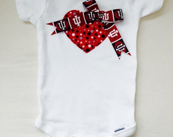 Indiana University Heart Onesie