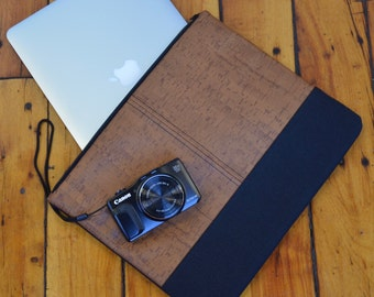 Cork Laptop Sleeve, Cork Laptop Case, Cork Computer Sleeve, Cork Computer Bag, Nitabag