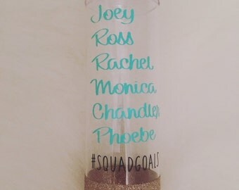 FRIENDS #Squadgoals Water Bottle