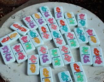 Vintage Care Bear Domino Set