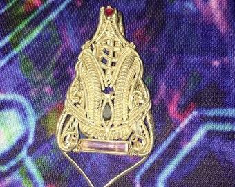Wire Wrap Symmetrical Pendant