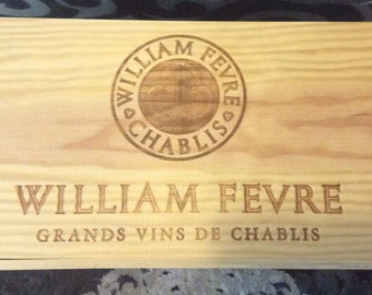 French Wine Crate With Lid - William Fevre