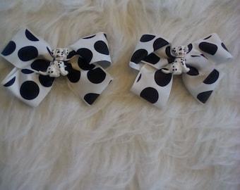 Little girls hair bow set