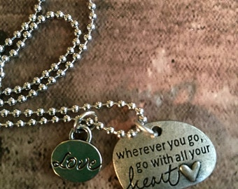 Go With Your Heart Charm Necklace