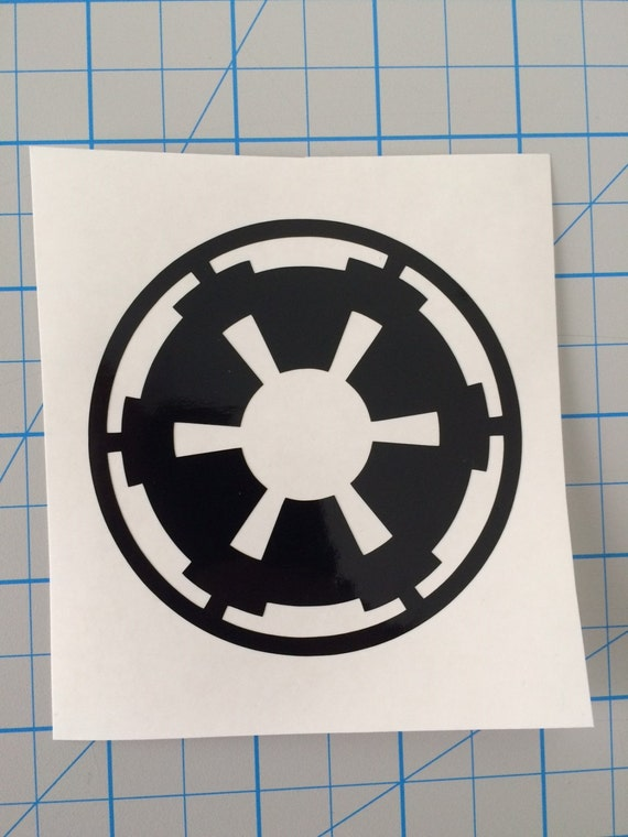 star wars imperial logo vinyl decal car laptop star wars. Black Bedroom Furniture Sets. Home Design Ideas