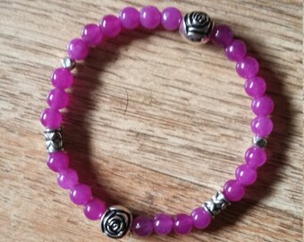 Purple Quartz Elasticated Bracelet