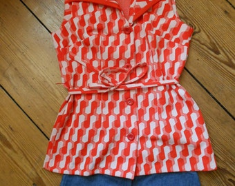 1960s 1970s Vest Pattern Kitsch