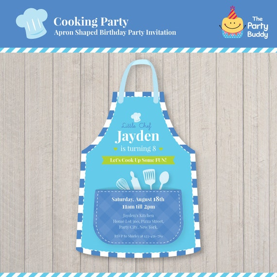 Kochen Party Geburtstag Einladung Design Jungen kleinen