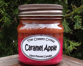 Caramel Apple Candle, Scented Candle, Soy Candle, Halloween Candle, Caramel Candle, Soy Blend Candle, Fall Candle, Soy, Hand poured Candle