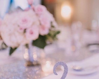 Glitter Table Numbers (set of 6)
