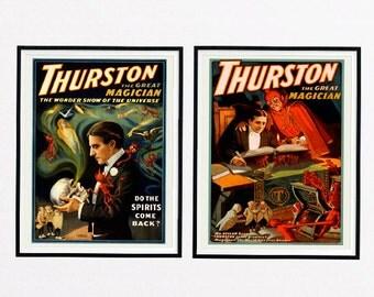 Thurston the Great Magician, vintage magic poster, Magician, famouse Magician, vintage poster, print-set, last minute gift, gift idea, DIY