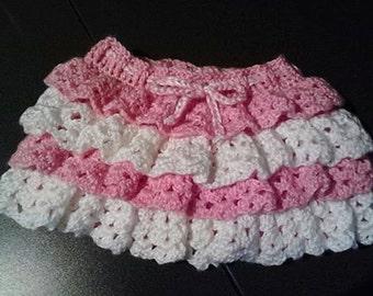 Girls TuTu in Pretty Pink and White