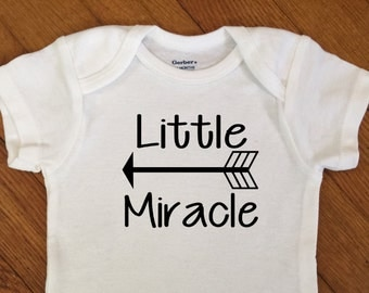 SALE! Little Miracle Arrow Shirt, Baby Outfit, Boy Bodysuit, Infant Onesie®, Baby Shower, New Baby, Coming Home Shirt, Hospital, Newborn Boy