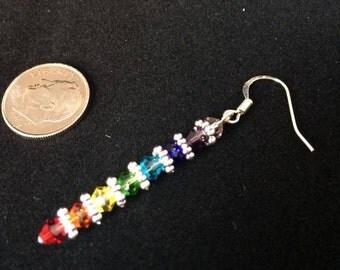 Swarovski Crystal Rainbow Chakra Earrings