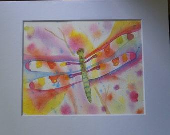 Dragonfly Original Watercolor Painting