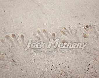 Handprints in the Sand Photo Digital Download