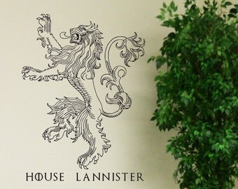 House Lannister - Game of Thrones - Vinyl Wall Decal