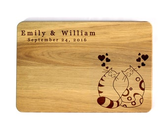 Cat Cutting Board Etsy
