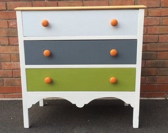 NOW SOLD  Refurbished  / Upcycled Chest of Drawers