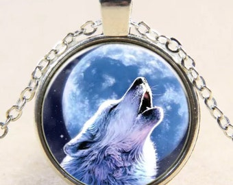 Howling Wolf Moon Necklace