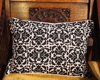 Handmade Screen Printed Monochrome Cushion