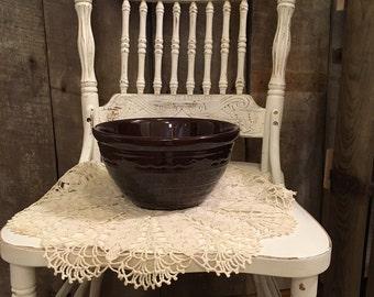 Marcrest Large Serving Bowl , Brown Glazed Bowl, Vintage Serving Bowl, Brown Glazed Serving Bowl, Large Mixing Bowl, Mid Century