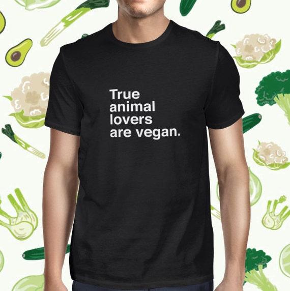 Animal Lover Men's T-shirt - Vegetarian Statement Shirt for Men - Plant-based Tshirt - Women's Vegetarian Tee Shirt - Vegan Shirt for Women