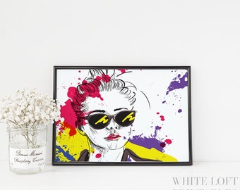 Fashion Print Fashion Illustration Fashion Wall Art Teen Girl Wall Art Fashion Wall Decor Fashion Gift Teen Girl Room Decor Fashion Poster