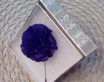 Handcrafted Purple Flower Lapel Pin