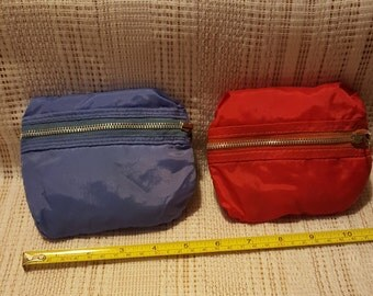 Vintage Zip Up Folding Shopping Bag