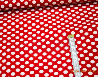 Cotton red / dotted white patchwork Zwiegart