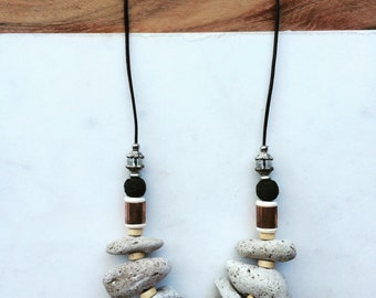 Pumice Stone Necklace