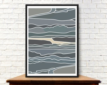 Abstract Seascape Print