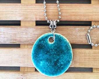 Handmade Ceramic Round Necklace
