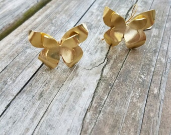 24K Gold Plated  Adjustable Butterfly Ring