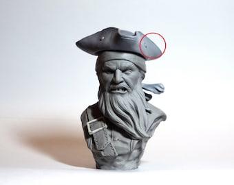 Bust pirate | Figure pirate | black beard