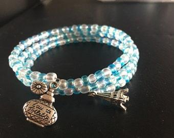 Blue And White Wrap Bracelet