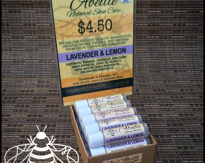 Lavender & Lemon moisturizing lip balm by Cire d'Abeille Natural Skin Care