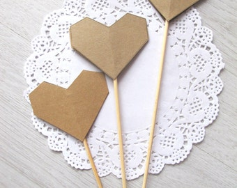 Paper Wedding Aisle Decor Colored Heart-paper Hearts on skewer outdoor Aisle decor