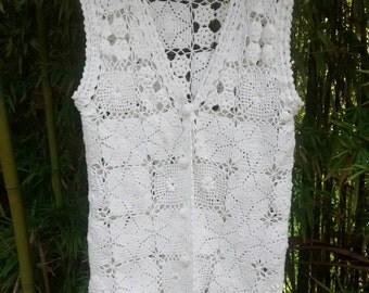 Sale! New Romantics: Pierre Cardin Crocheted Granny Square Vest