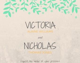 Wedding Invitation - Personalized 002